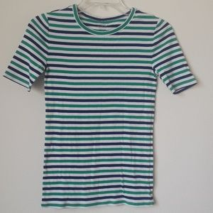 J. Crew perfectly fit xs striped tee